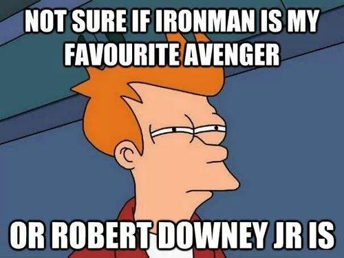 Fry Confused By Robert Downey Jr.