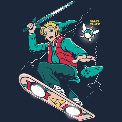 Marty McFly as Link