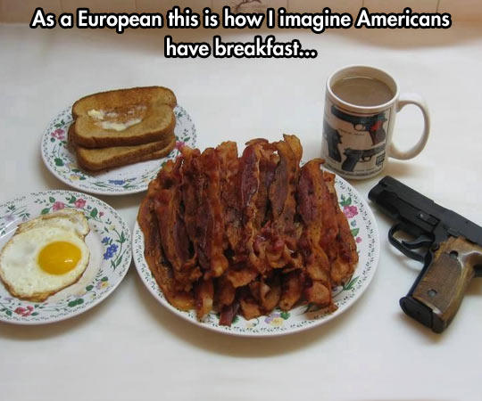 360 the american breakfast bacon know your meme
