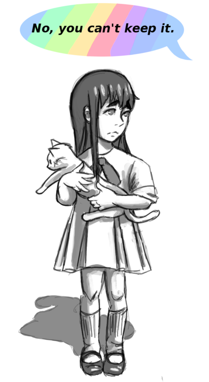 """""""I don't allow rats in the house, Satsuki."""""""