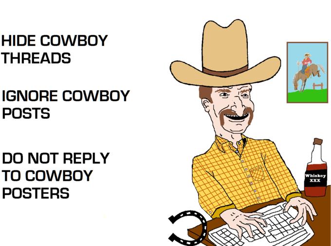 Hide Cowboy posts