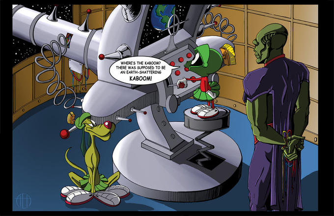 Marvin the Martian and Martian Manhunter