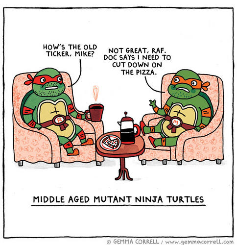 Middle Aged Mutant Ninja Turtles