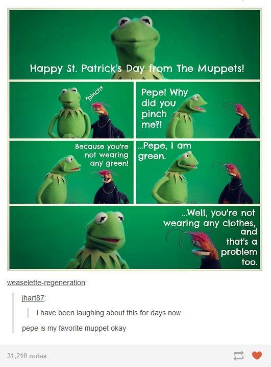 d9c muppets st patrick's day the muppets know your meme