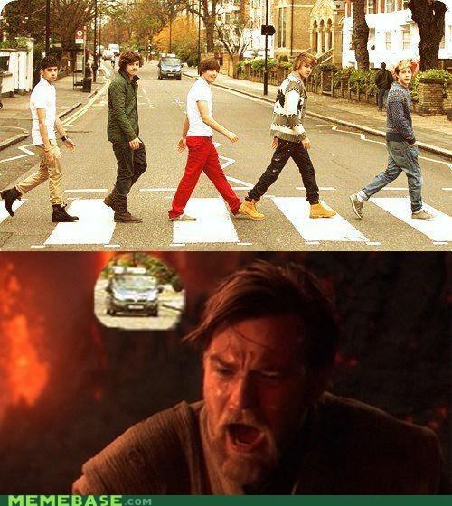 Obi-Wan wishes that the car had run them over.