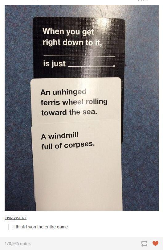718 ferris wheels cards against humanity know your meme