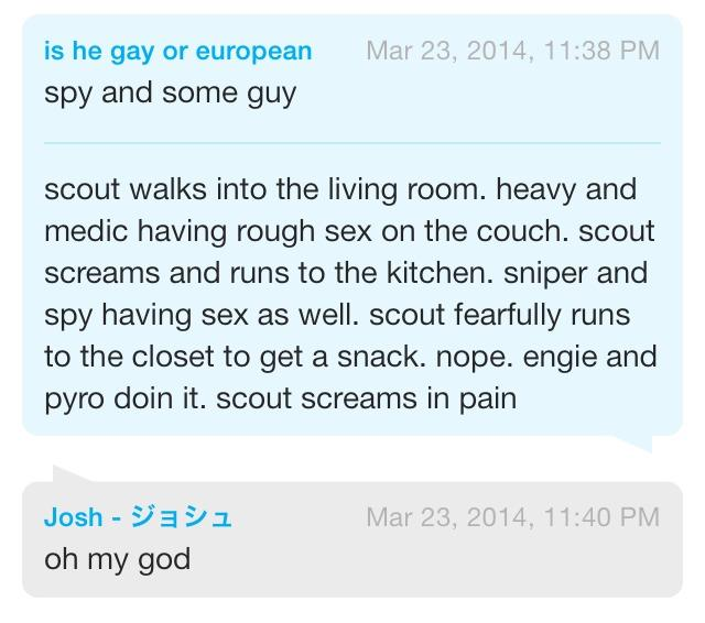 Scout's the only character who isn't regularly shipped with one particular team member
