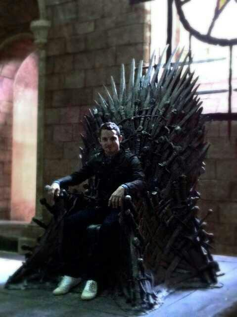 Frodo Sits on the Throne