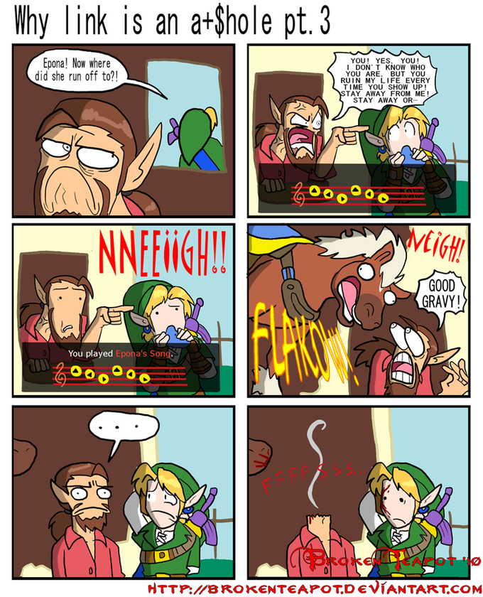Why Link is an ahole part tres.