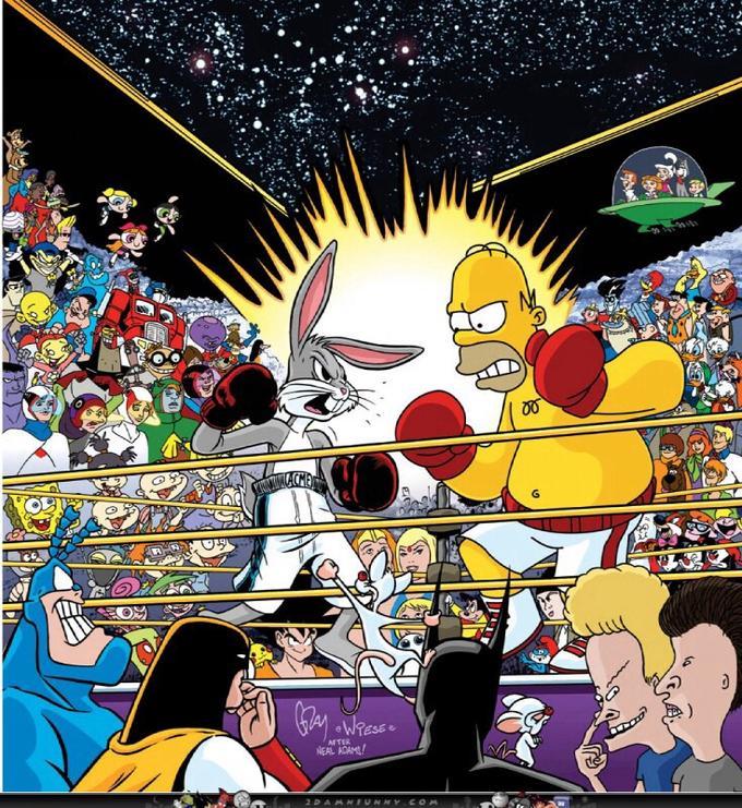 Bugs vs. Homer Simpson