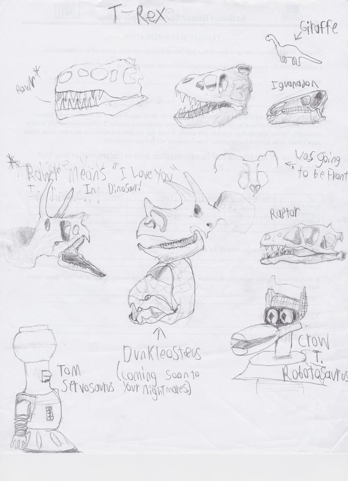 Conman The Terrible's drawing Practice 9: Dinos
