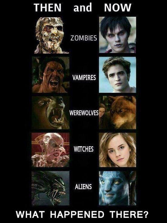 50d evolution of movie monsters ruined childhood know your meme