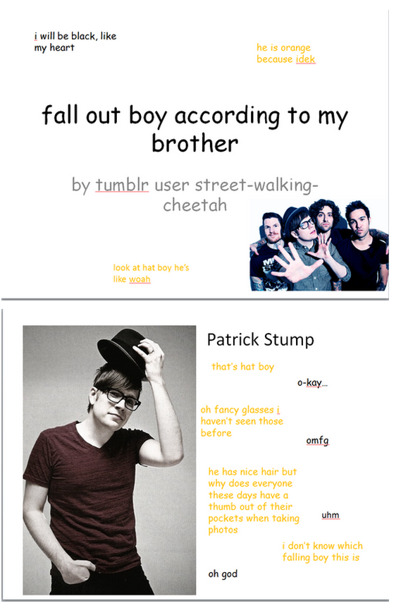 Fall Out Boy According To