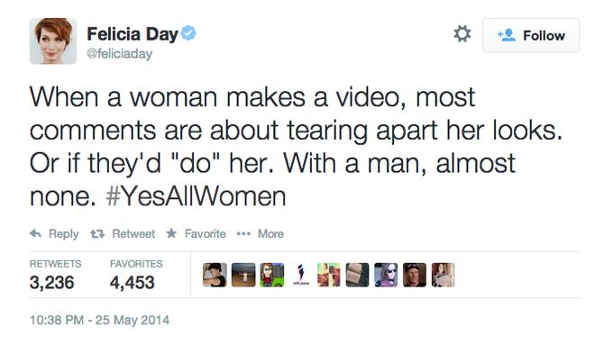 #YesAllWomen Felicia