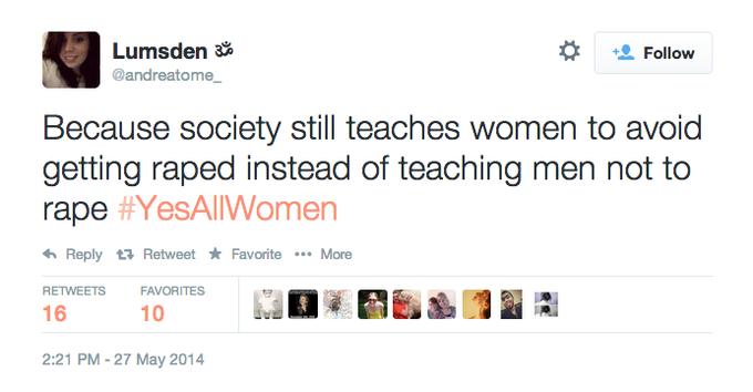 #YesAllWomen Still
