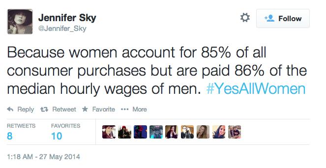 #YesAllWomen Wages