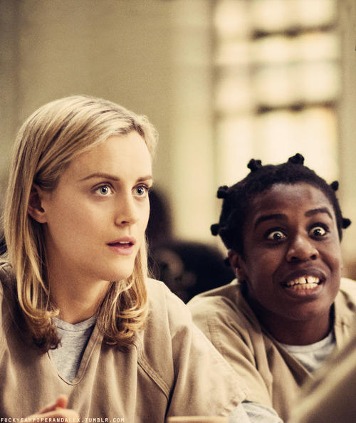 Crazy Eyes and Piper