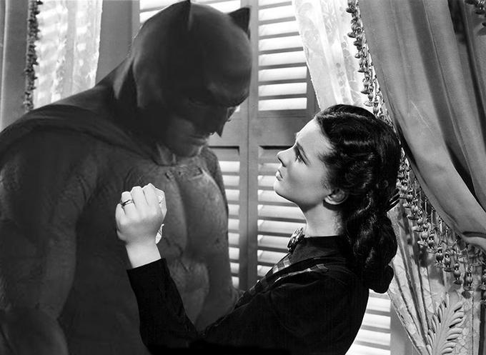 Sad Batman - Gone with The Wind Style
