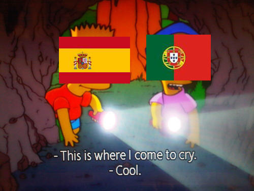 Spain and Portugal in the Group-Stage Round