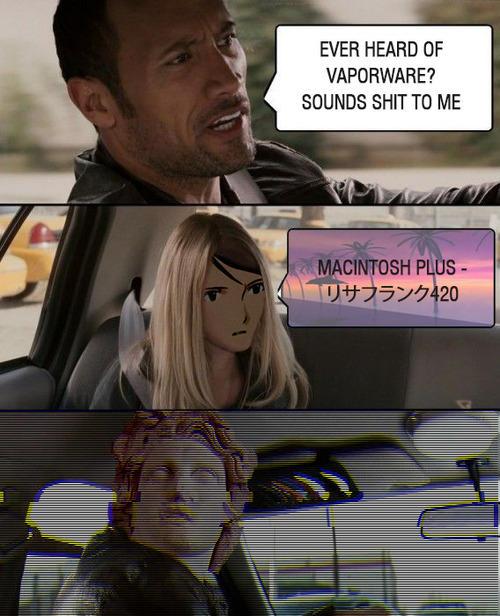 The Rock Vaporwave