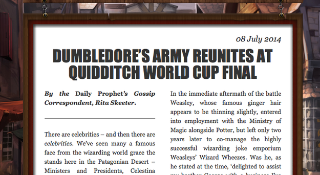Pottermore short story