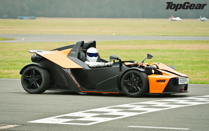The Stig in a KTM X-Bow