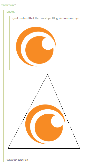Mam Izoune Busket Ijust Reaized That The Crunchyroll Logo Is An Anime Eye Wake
