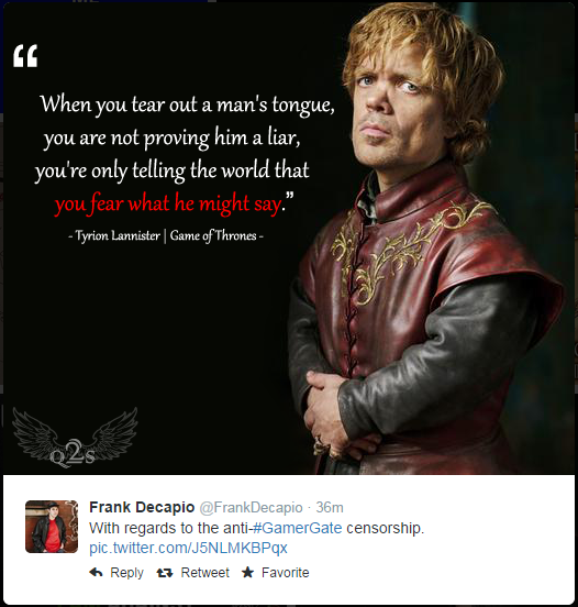 4e7 tyrion lannister gamergate know your meme