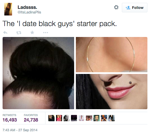 Dating A Black Man Starter Pack