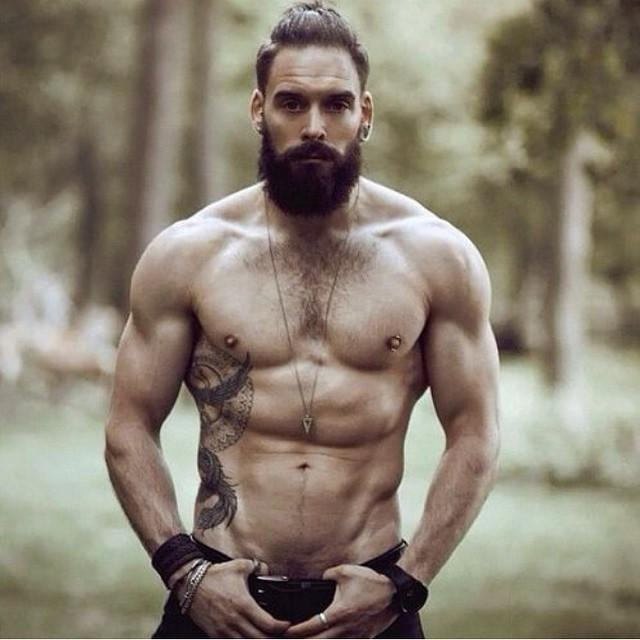 Man Barechestedness Hair Bodybuilder Body Beard Chin Male Muscle Chest Bodybuilding Trunk