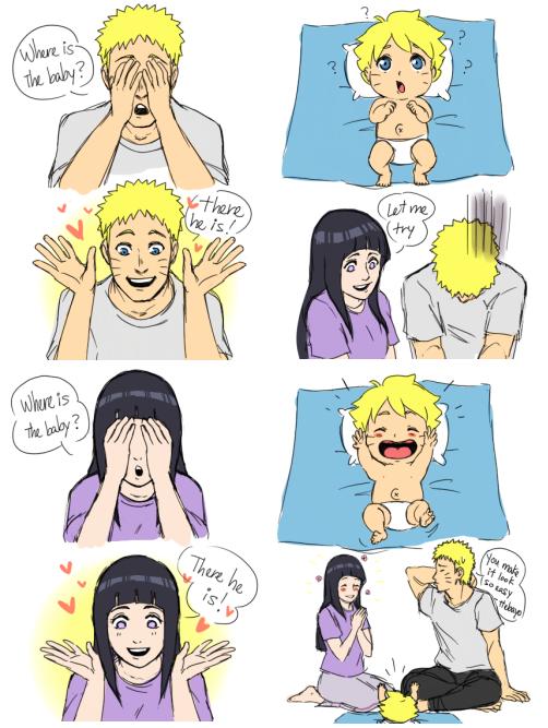 Naruto And Hinata Play Peek A Boo With Boruto Naruto