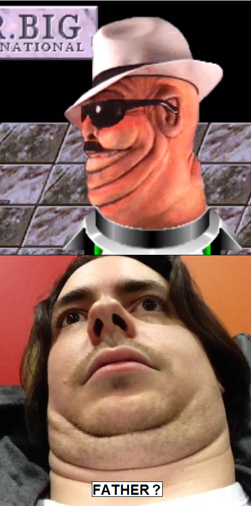 8b7 egoraptors father? arin hanson's chin know your meme