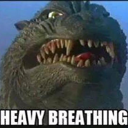 heavy kaiju breathing