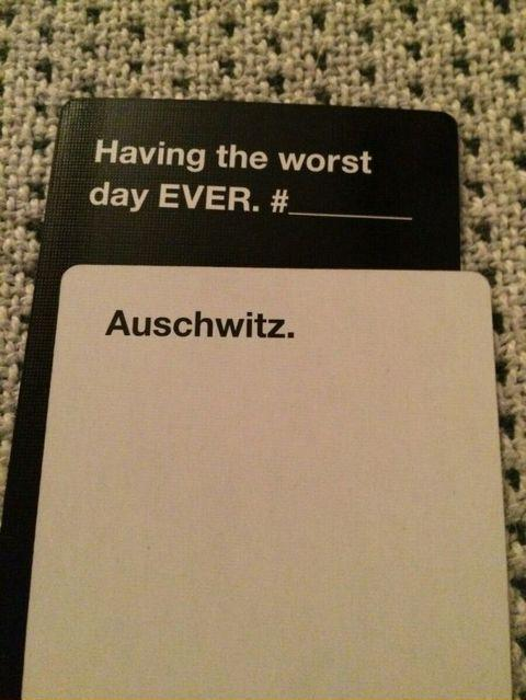 eea the worst day cards against humanity know your meme