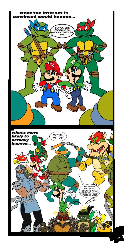 1f5 tmnt versus super mario bros crossover know your meme