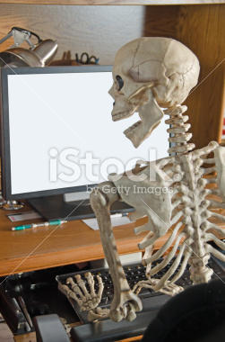 af5 skeleton on the computer stock photography know your meme,Skeleton Computer Meme