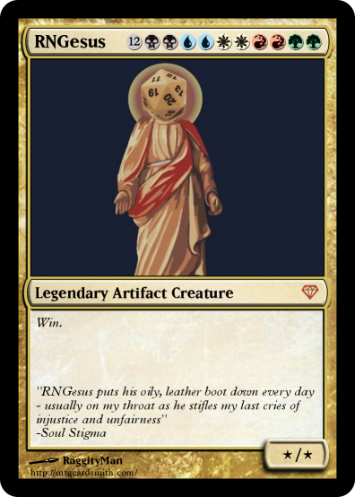 9fc magic the gathering card rngesus know your meme