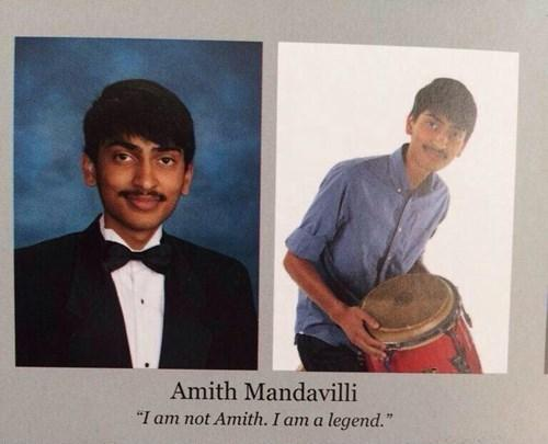 Funny Yearbook Names Hindu: I Am Not Amith. I Am A Legend.