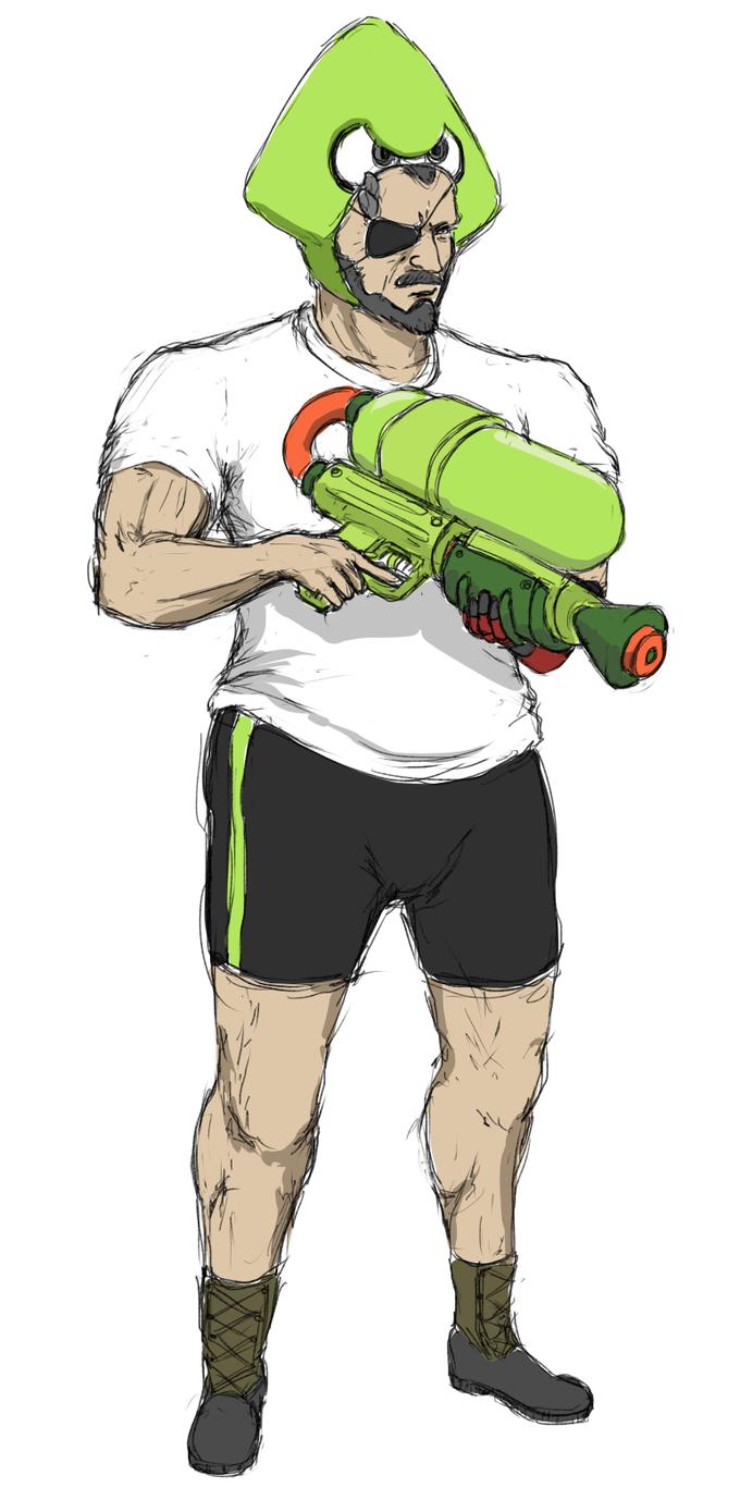 Metal Gear Squid Splatoon