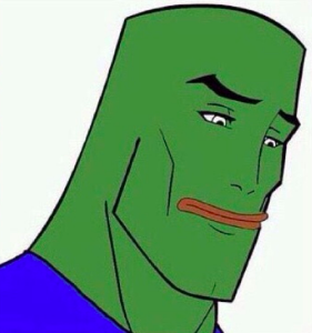 ac6 handsome face pepe feels bad man sad frog know your meme,Know Your Meme Pepe