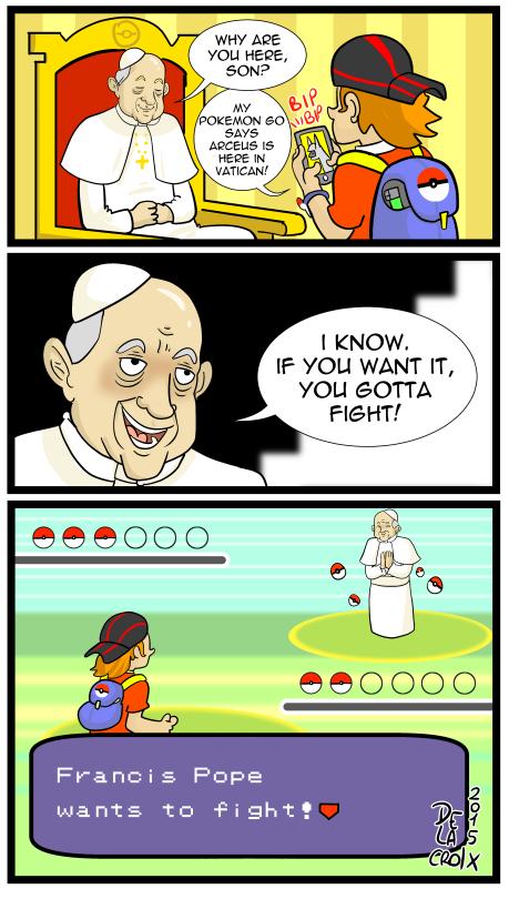 Pope Francis Battle Pok 233 Mon Go Know Your Meme
