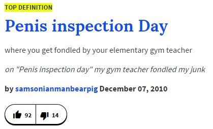 0fa urban dictionary definition penis inspection day know your meme
