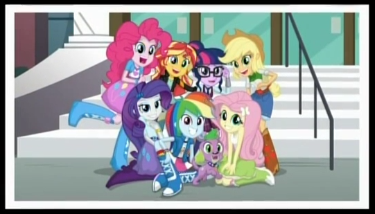 The humane 7 and Spike the Dog  My Little Pony Equestria Girls