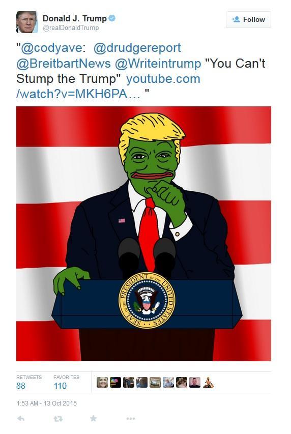 4b3 trump retweets a rare pepe and an mlg video donald trump know
