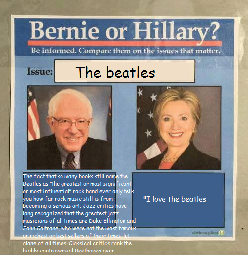 089 unsolicited opinions on the beatles bernie or hillary? know,Beatles Meme