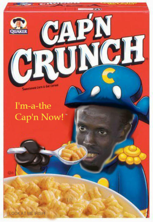 I'm the Captain crunch now