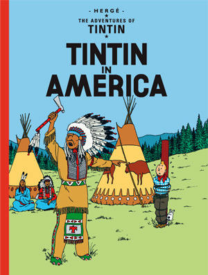 Tintin in America cover page
