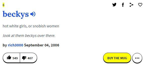 405 urban dictionary definition becky know your meme