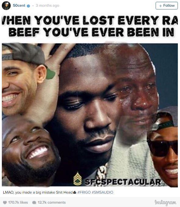 773 meek mill beef photoshop 50 cent know your meme