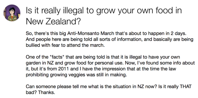 Illegal To Grow Food In New Zealand